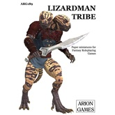 Paper Miniatures: Lizardman Tribe Set