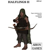 Paper Miniatures: Halflings II Set