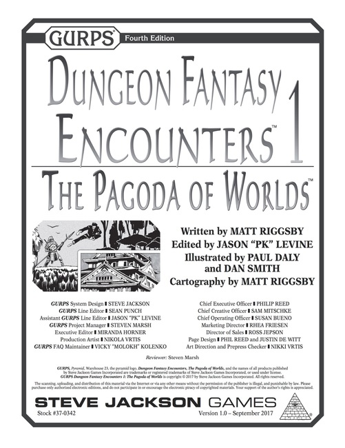 GURPS Dungeon Fantasy Encounters 1: The Pagoda of Worlds