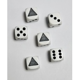 Eye in Pyramid Dice Set (White)