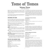 Tome of Tomes: Volume Three