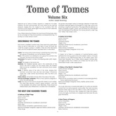 Tome of Tomes: Volume Six