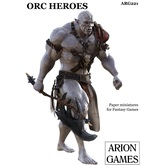 Paper Miniatures: Orc Heroes Set