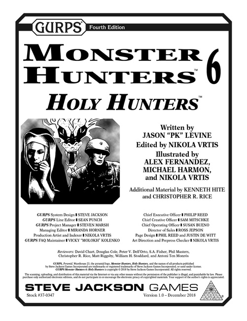 GURPS Monster Hunters 6: Holy Hunters