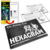 Hexagram-issue-1-with-bookmark-and-postcards-b