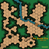 The Fantasy Trip Octopus Lair: Playmat Style C