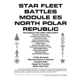 Star Fleet Battles: Module E5 – North Polar Republic (B&W)