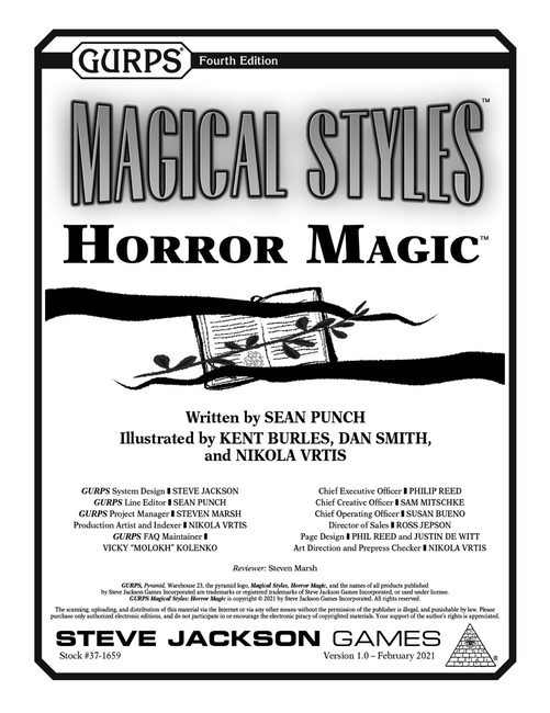 GURPS Magical Styles: Horror Magic