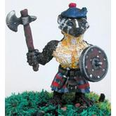Off the Wall Armies: Highlander Badger Commoner with Axe