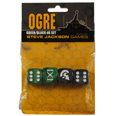 Ogre Dice Set (Black/Green)