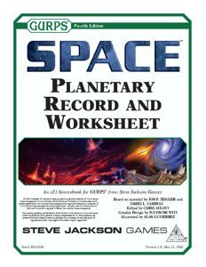 GURPS Space: Planetary Records Worksheet