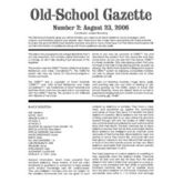 Old School Gazette #2