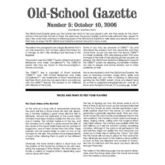 Old School Gazette #5