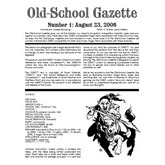 Old School Gazette 1