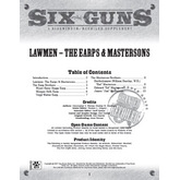 Six Guns: Lawmen - The Earps & Mastersons