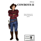 Paper Miniatures: Cowboys II
