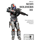 Paper Miniatures: Science Fiction Soldiers III