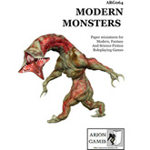 Paper Miniatures: Modern Monsters