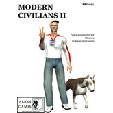Paper Miniatures: Modern Civilians II Set