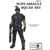 Paper Miniatures: SciFi Assault Squad Set
