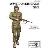 Paper Miniatures: WWII Americans Set