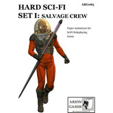 Paper Miniatures: Hard SciFi Set I: Salvage Crew