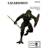 Paper Miniatures: Lizardmen Set