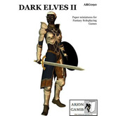 Paper Miniatures: Dark Elves II
