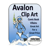 Avalon Clip Art, Comic Book Villains
