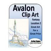 Avalon Clip Art, Fantasy Locations 2