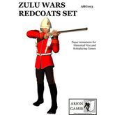 Paper Miniatures: Zulu Wars Redcoats Set