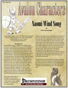 Warehouse 23 - Avalon Characters, Naomi Wind Song