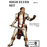 Paper Miniatures: High Elves Set