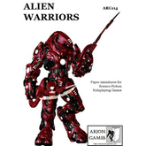 Paper Miniatures: Alien Warriors Set