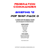 Federation Commander: Briefing #2 Ship Pack D