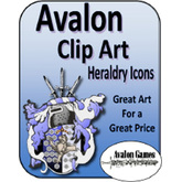 Avalon Clip Art Sets, Heraldry Icons