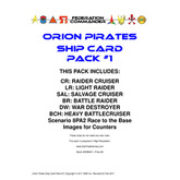 Federation Commander: Orion Ship Card Pack #1