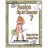 Avalon Clip Art Characters, Warrior Woman 2