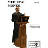 Paper Miniatures: Medieval Monks Set