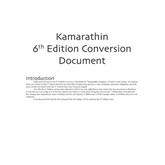 Kamarathin Conversion Document