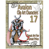 Avalon Clip Art Characters, Star Knight 5