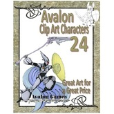 Avalon Clip Art Characters, Star Knight 7