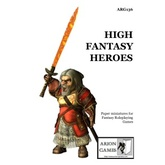 Paper Miniatures: High Fantasy Heroes Set