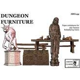 Paper Miniatures: Dungeon Furniture Set