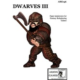 Paper Miniatures: Dwarves III Set