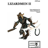 Paper Miniatures: Lizardmen II Set