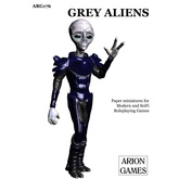 Paper Miniatures: Grey Aliens Set